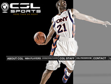 Image of CGL Sports Home Page