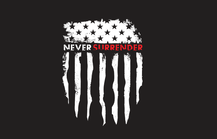 Image of Never Surrender Branding Identity