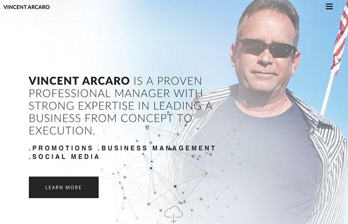 Image of Vincent Arcaro Home Page