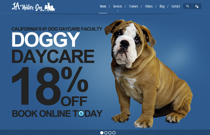 Image of LA Modern Dog Home Page